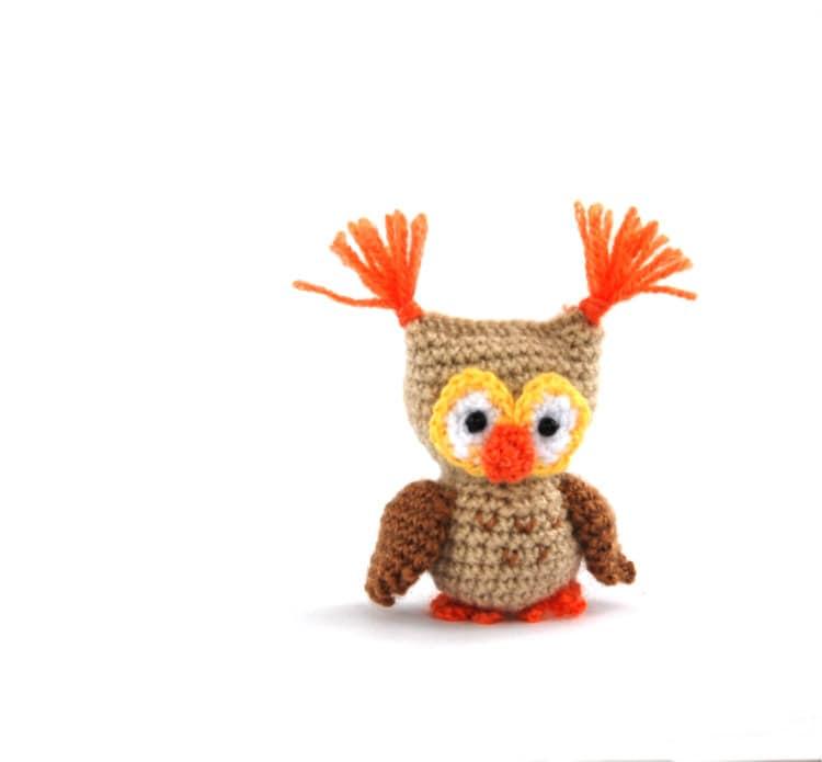 Amigurumi Small Doll : amigurumi owl doll little crochet owl crochet toy owl