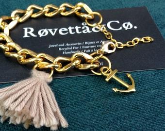 Island Bracelet, anchor and tassel