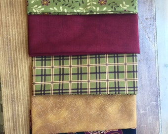 Fall Fabric Fat Quarter Bundle (5)