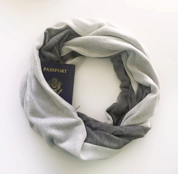 Paris scarf w hidden pocket travel travel scarf hidden for Travel scarf