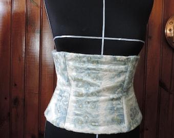 Romantic blue corset