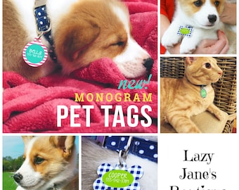 Monogram Pet Tags