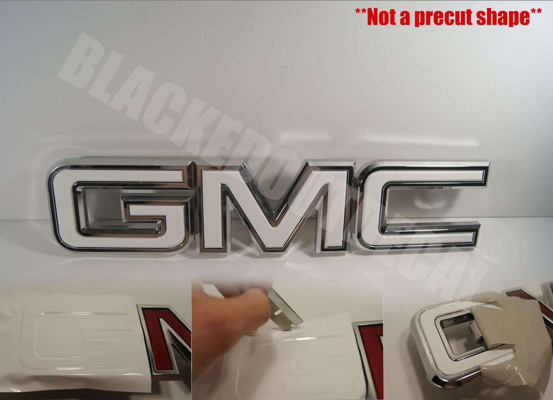 07 13 Gmc Sierra Yukon Acadia White Front Grill Emblem