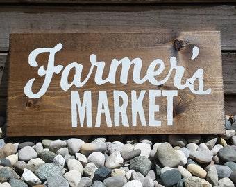 Farmer's Market Sign, Hanging Wooden Sign, Rustic Wooden Farmers Market Sign, Farmers Market, Market Sign, Farm Sign, Wooden Signs, Country