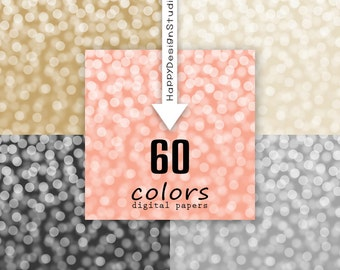 Bokeh digital paper glitter background colorful commercial use papers decoration gold silver rainbow colors backdrop photography glamour