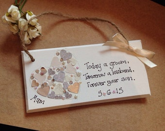 personalised mother of the groom gift plaque gift wedding mother mum ...