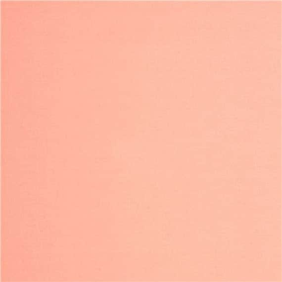 Organic Cloud 9 shell pink solid plain colour cotton fabric fat quarter
