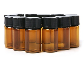 2ml amber glass bottles with orrifice reducer