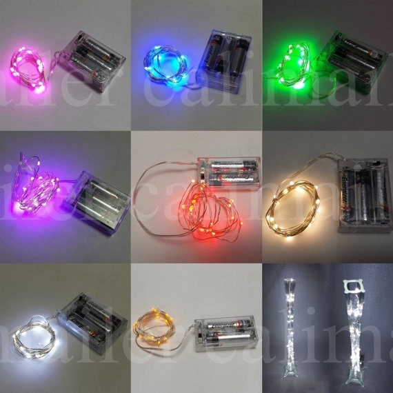 Led String Lights Long : Items similar to 10 pieces Mini String light 20 led 7 feet long Waterproof battery-operated ...
