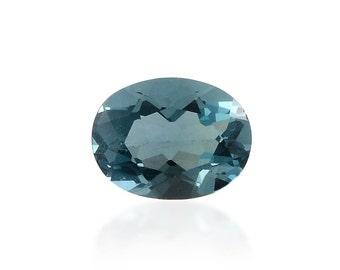 Blue Fluorite Oval Cut Loose Gemstone 1A Quality 8x6mm TGW 1.20 cts.