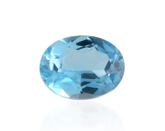 Blue Topaz Oval Cut Loose Gemstone 1A Quality 8x6mm TGW 1.40 cts.