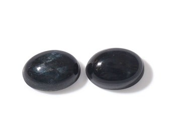 South African Blue Tigers Eye Set of 2 Loose Gemstones Oval Cabochon 7x5mm TGW 1.35 cts.