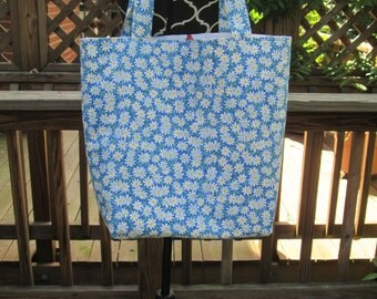 A Large Daisy Tote Bag