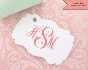 Monogram tag (30) - Personalized tag - Wedding favor tags - Monogram gift tags - Personalized gift tags - Wedding tags