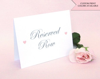 Reserved row sign (2) - Reserved signs for wedding - Reserved seating - Wedding reserved sign - Reserved cards - Elegant wedding signs