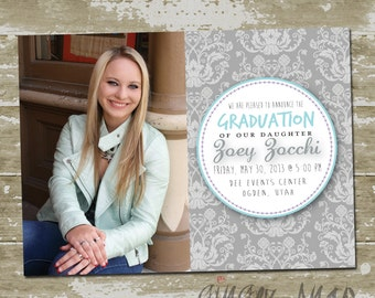 Circle Graduation Announcement