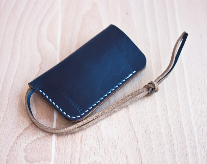 Horween Leather Key Holder/Horween Leather Key Case/Long leather key case/Chromexcel Key Case