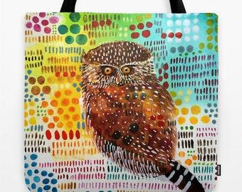 Little Owl Market Tote, Market Bag