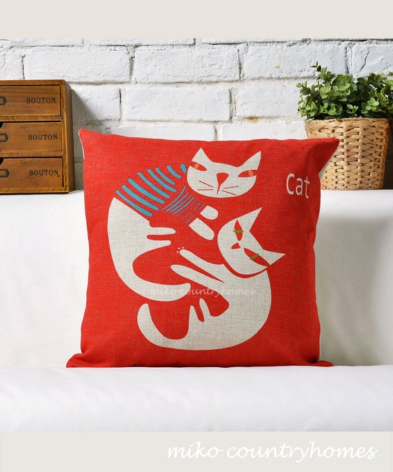 Fun Decorative Throw Pillows : Throw Pillow Cover Fun Decorative Pillows by MikoCountryHomes