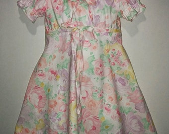 Girls Toddlers GORGEOUS Spring Flowers Dress! Girl Boutique Outfit Dress! Easter Spring Summer Dress Baby Girl Toddler Flowered
