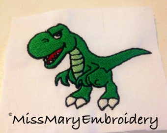 Angry T-REX Download Digital Embroidery File Design 4X4