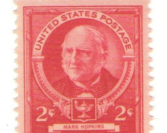 10 Unused 1940 - Mark Hopkins- Educator, President Williams College - Vintage Postage Stamps Number 870