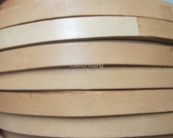 Flat leather 10x2mm Natural color Genuine leather cord 10mm Flat leather