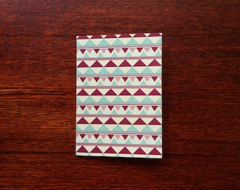 Blank Greeting Card 'Lyra' geometric pattern 97mm x 138mm plus envelope