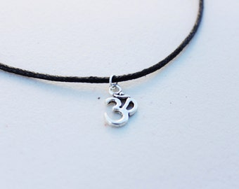 The Om Choker -  Silver Om Symbol Necklace