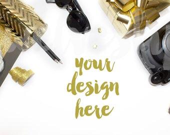 Black and Gold Stock Photo | Styled Stock Photography | Desktop Image | Product Mockup | Product Background