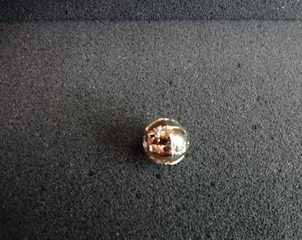 Gorgeous Omega slide Ball pendant 14k Gold