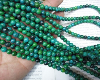 6mm artificial phoenix round beads, 15.5 inch