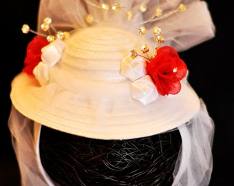 Mary Poppins Jolly Holiday MINI SnuggleHat (Baby Hat, Fascinator, Photo Prop, Pageant hat)