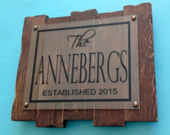 Last Name Plaque Personalized Family Name Sign Family Established Sign