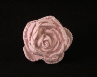 Men's White Flower Lapel Pin  - Weddings / Everyday / Prom