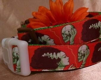 "Bride of Frankenstein 1"" Width Adjustable Dog Collar"