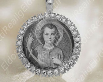 The Child Jesus Christ by Franz Ittenbach Christian Catholic Medal Religious