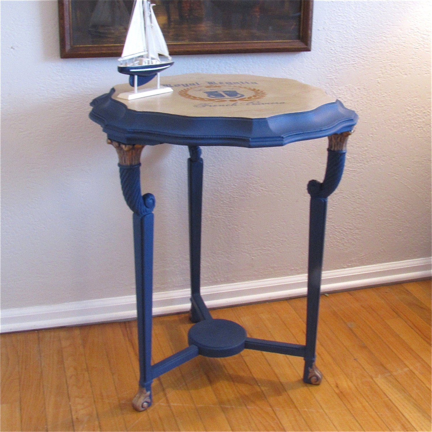 Vintage Nautical Side Table By Soldier58 On Etsy