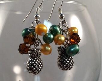 Pineapple Cluster Earrings