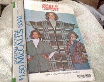 1970's Pancho Carefree Pattern
