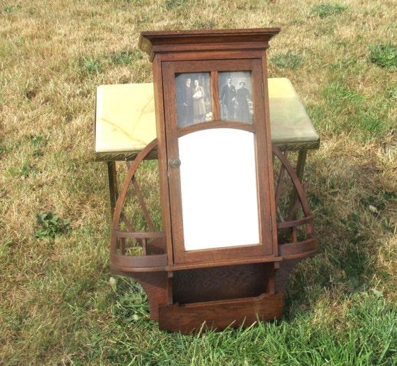 antique wooden medicine wood bathroom cabinet glass mirror. Black Bedroom Furniture Sets. Home Design Ideas