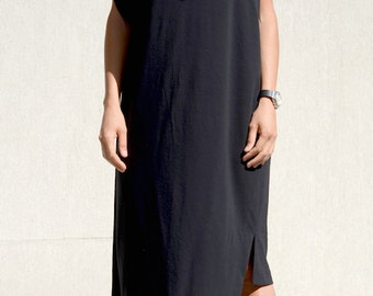 Asymmetric Dress, Womens Tunic, Black Short Dress, Asymmetric Tunic, short sleeves, Sexy Dress, Formal Top, Summer Dress, black tunics