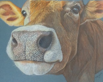 COW FACE - Original artwork by Tracey Bryant