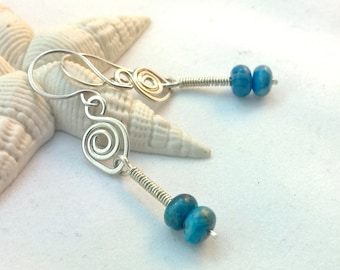 Sterling and Crazy Lace Agate Earrings