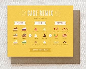 Funny Birthday Card - Cake Remix