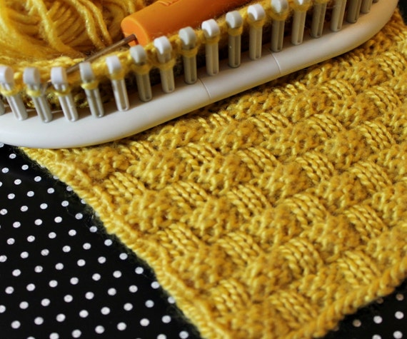 How To Loom Knit A Basket Weave Hat : Loom knitting stitch patterns the basket weave with