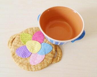 Half a Dozen trivet PDF sewing pattern - Easter pattern - applique pattern - cherry-stones trivet pattern - instant download pattern