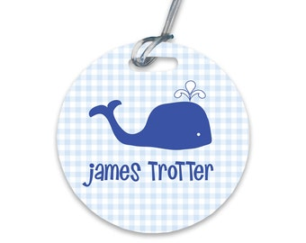 Personalized Diaper Bag Tag Baby Boy Bag Tag Personalized Round Bag Tag Baby Shower Gift Baby Gift