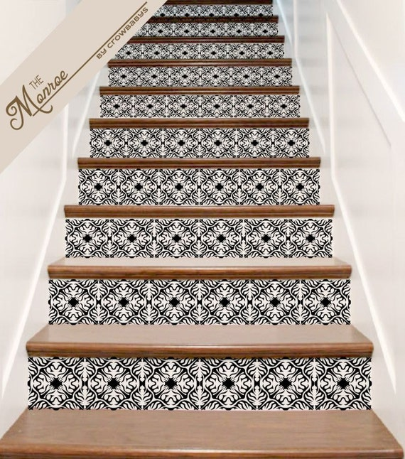 stickers escalier vinyl orn carrelage autocollant decor. Black Bedroom Furniture Sets. Home Design Ideas