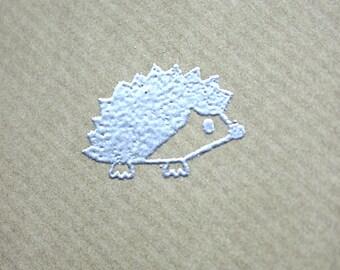 Hedgehog card, herisson, recycled card, eco friendly card, cute card, woodland card, hedgehog anniversary card